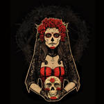 Day of the Dead, Lady in Red