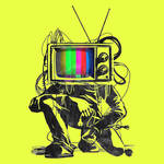 Neon Retro Tv Color Test Man