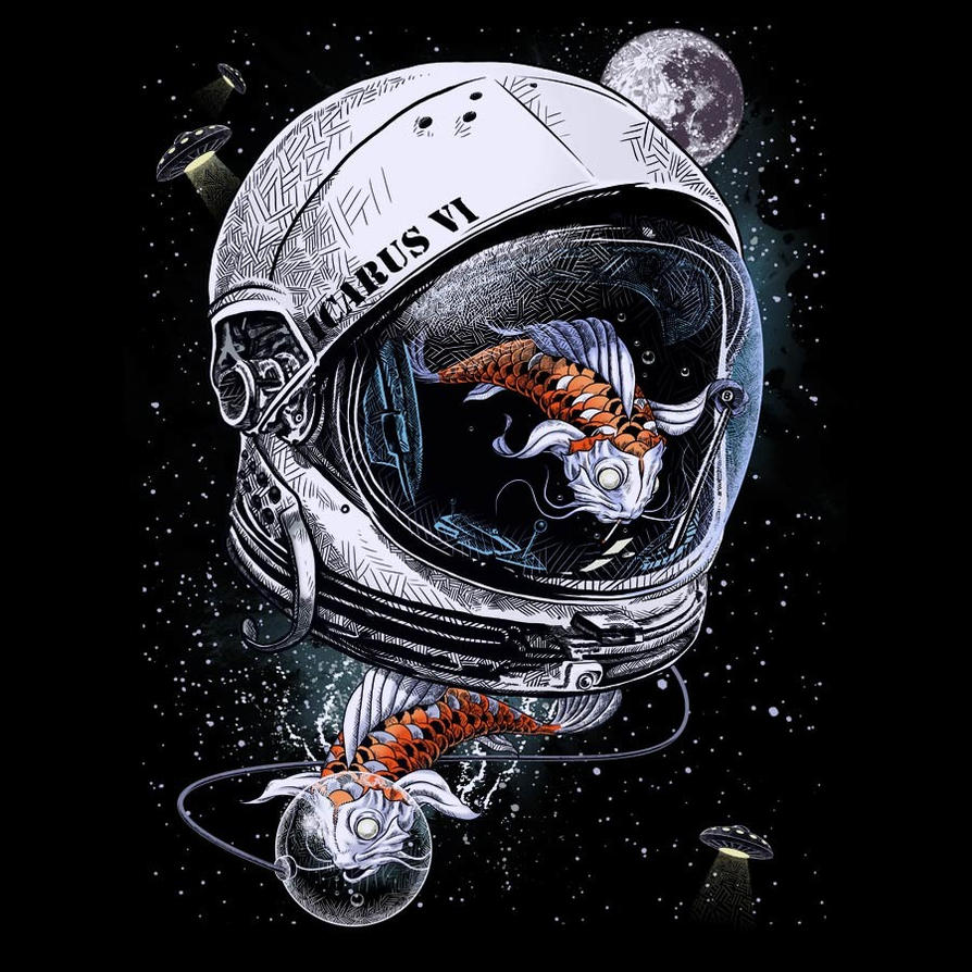 Space koi by drspazmo by design by humans on deviantart for Space design wallpaper