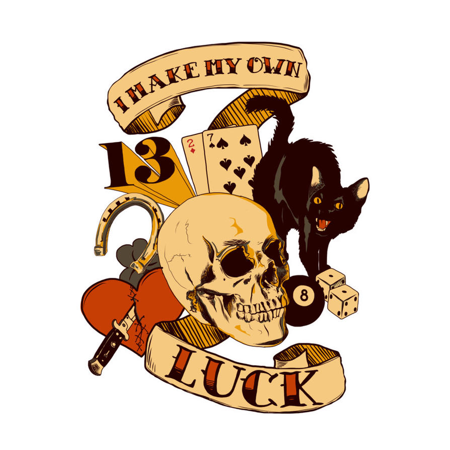 i make my own luck by artist lopesco by design by humans on deviantart