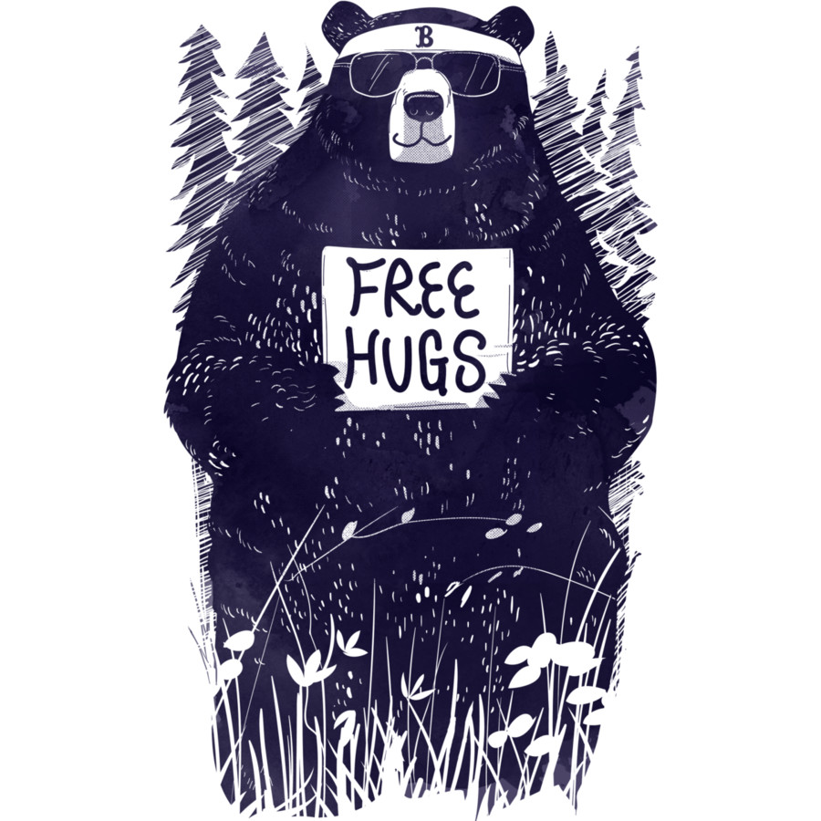 Human design t shirt -  Freehugs By Design By Humans