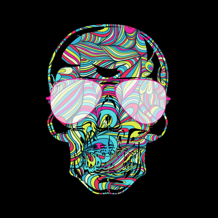 Skull Color Waves By Design By Humans On Deviantart