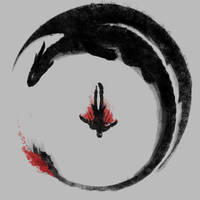 Viking Dragon Emblem by Design-By-Humans