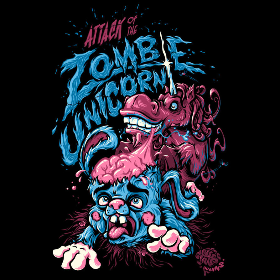 Attack Of The Zombie Unicorn by Design-By-Humans on DeviantArt