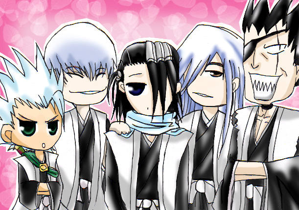 Bleach : Chibi Captains by gensoukai12 on DeviantArt