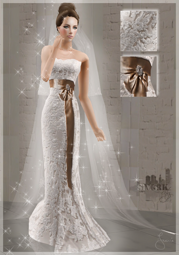 Wedding Dress Gold Bow TS2 By 19Frency94 On DeviantArt