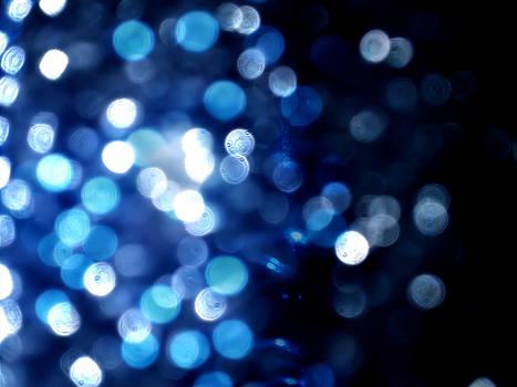 Blue Night Bokeh Texture