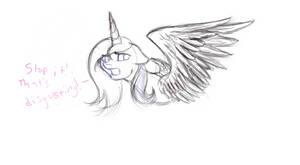 Luna Sketch by emptyblackdeath