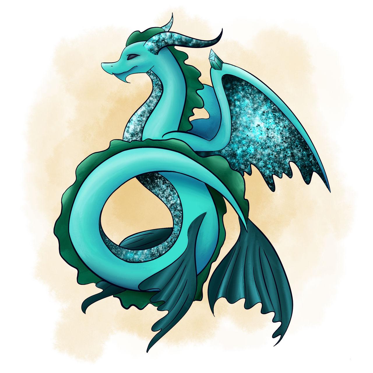 Aquamarine Dragon by emptyblackdeath