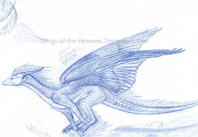 Running Dragon sketch by Blue4Eagle