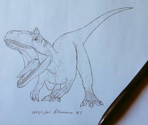 Allosaurus Dinovember 2018