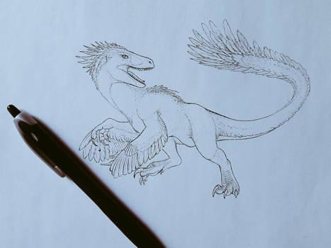 Utahraptor Dinovember 2018