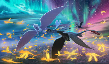 HTTYD Duo Aurora Flight