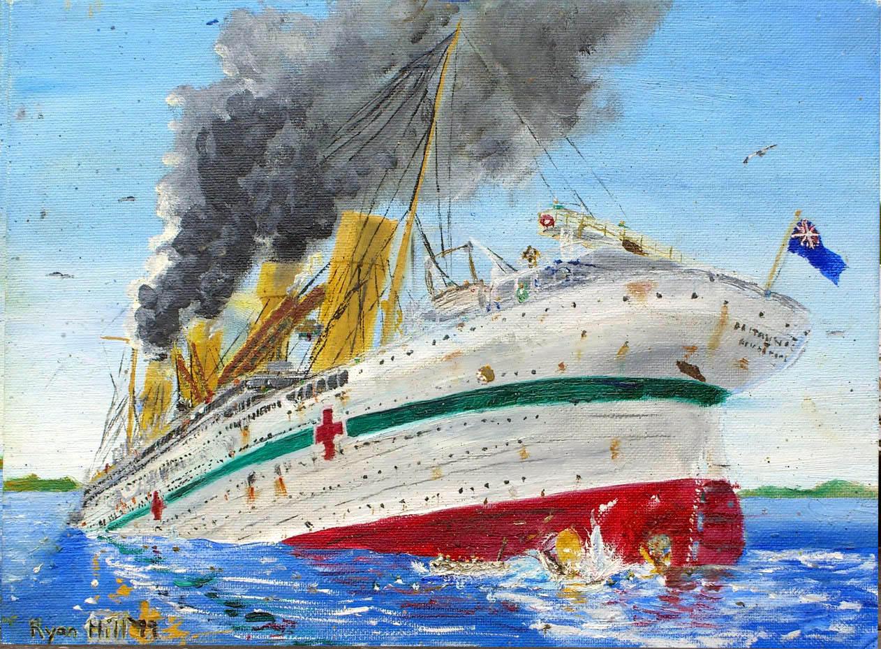 Sinking of the Britannic 1 by rhill555 on DeviantArt