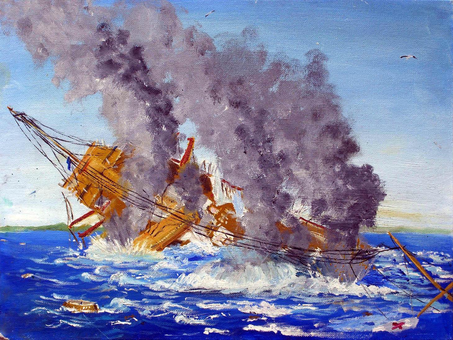 Sinking of the Britannic 3 by rhill555 on DeviantArt