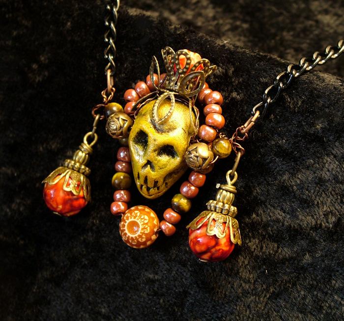 Legba Lwa Voodoo Skull Amulet by Jurikova