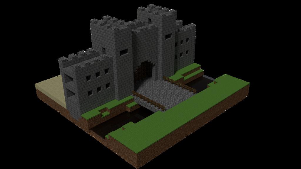 Minecraft Castle Gate By Tohmis On Deviantart