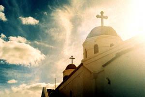 sky over church by lloydhughes