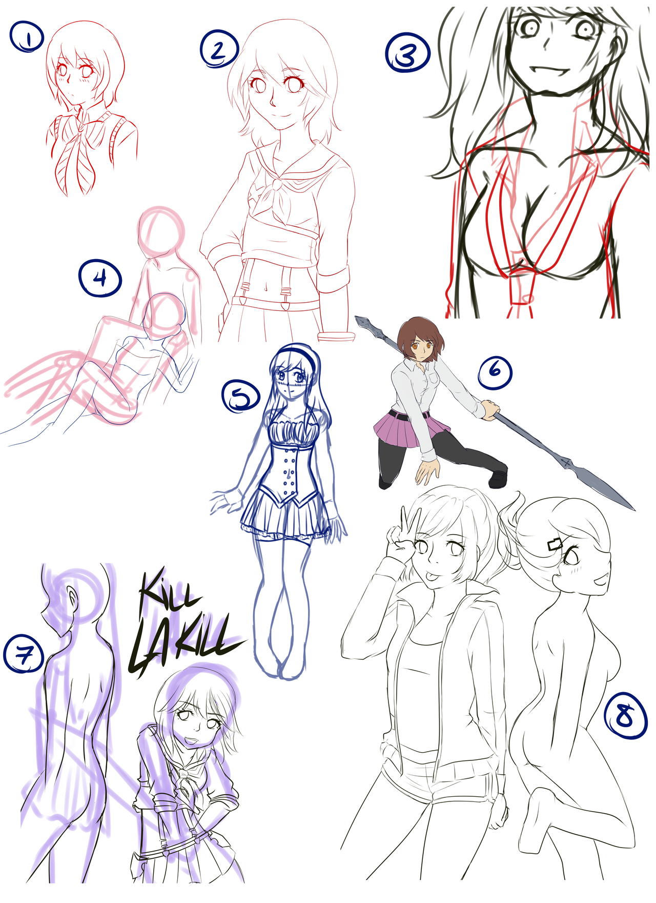 .:Sketchdump 7-3-2014:. by EriaHime