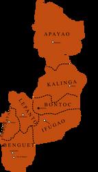 OLD Cordillera aka Mountain Province Divisions by kazumikikuchi