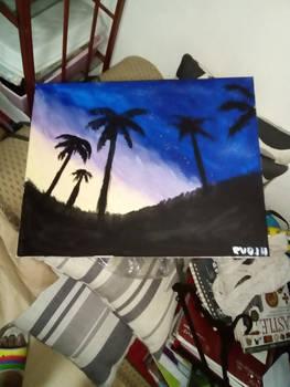 Palms in the Night Sky