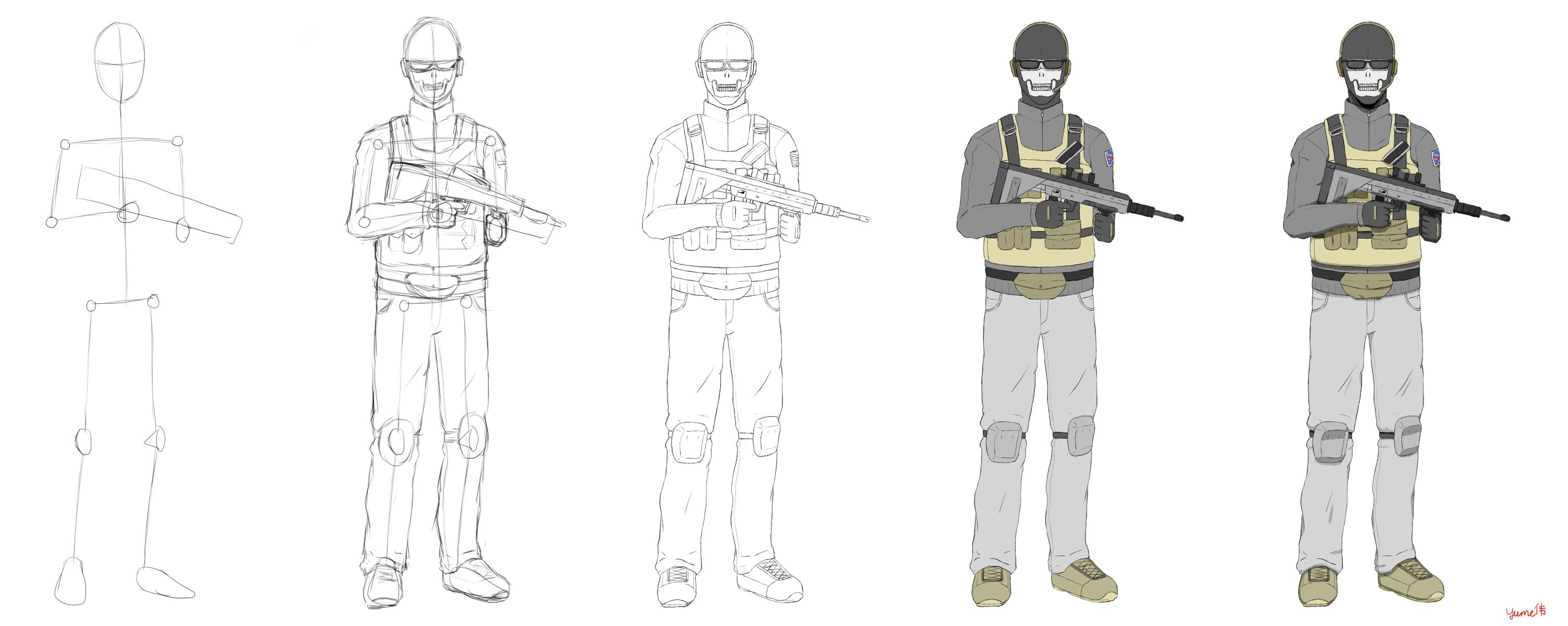 Call of Duty Modern Warfare 2 Ghost by YoshirouYume on DeviantArt