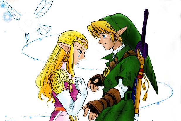 Zelda And Link Kiss Ocarina Of Time Linkxzelda - ocarina of timeZelda And Link Kiss Ocarina Of Time