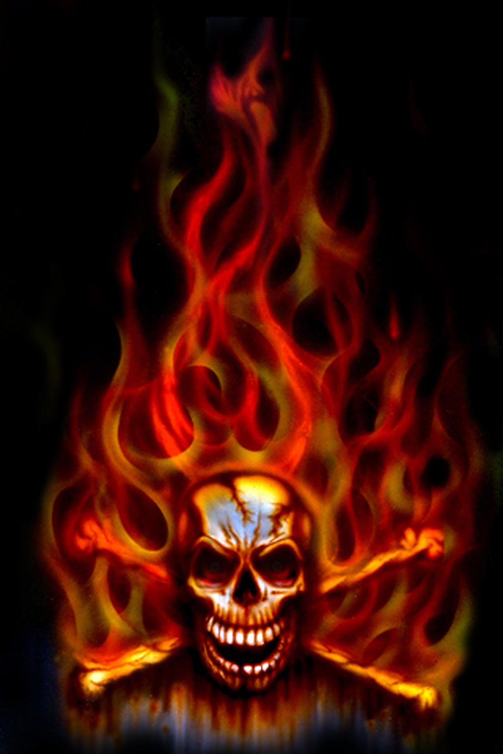Cool Drawings Of Skulls On Fire | www.imgkid.com - The ...