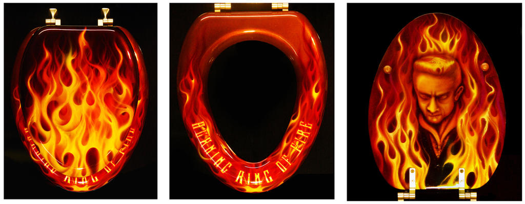 Burning Ring of Fire Toilet Seat Lid by hardart-kustoms