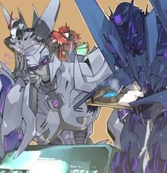 take care of Dark Megatron. by Tojosaka666