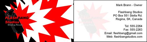 Flashbang Studios BusinessCard by ChewySmokey