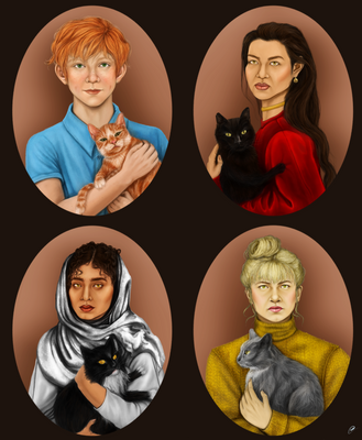 My Cats as if they were people by dangerliesbeforeyou