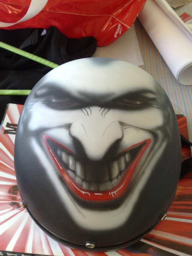 Airbrush Joker Wallpaper: Joker Helmet Airbrushing By Deniway27 On DeviantArt