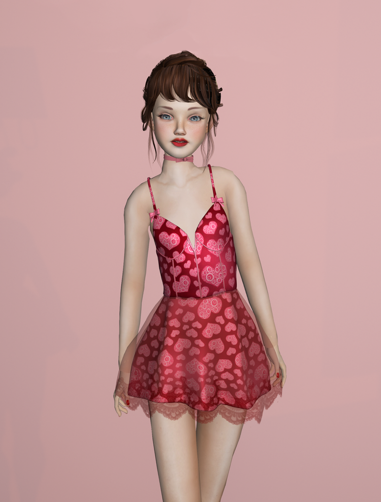 Valentine's Dress by JanisJohnson
