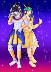 Anubis n Seth - Dark n Anti by LadyValKatt