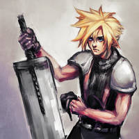 FF7 Cloud Strife by gravitybeams