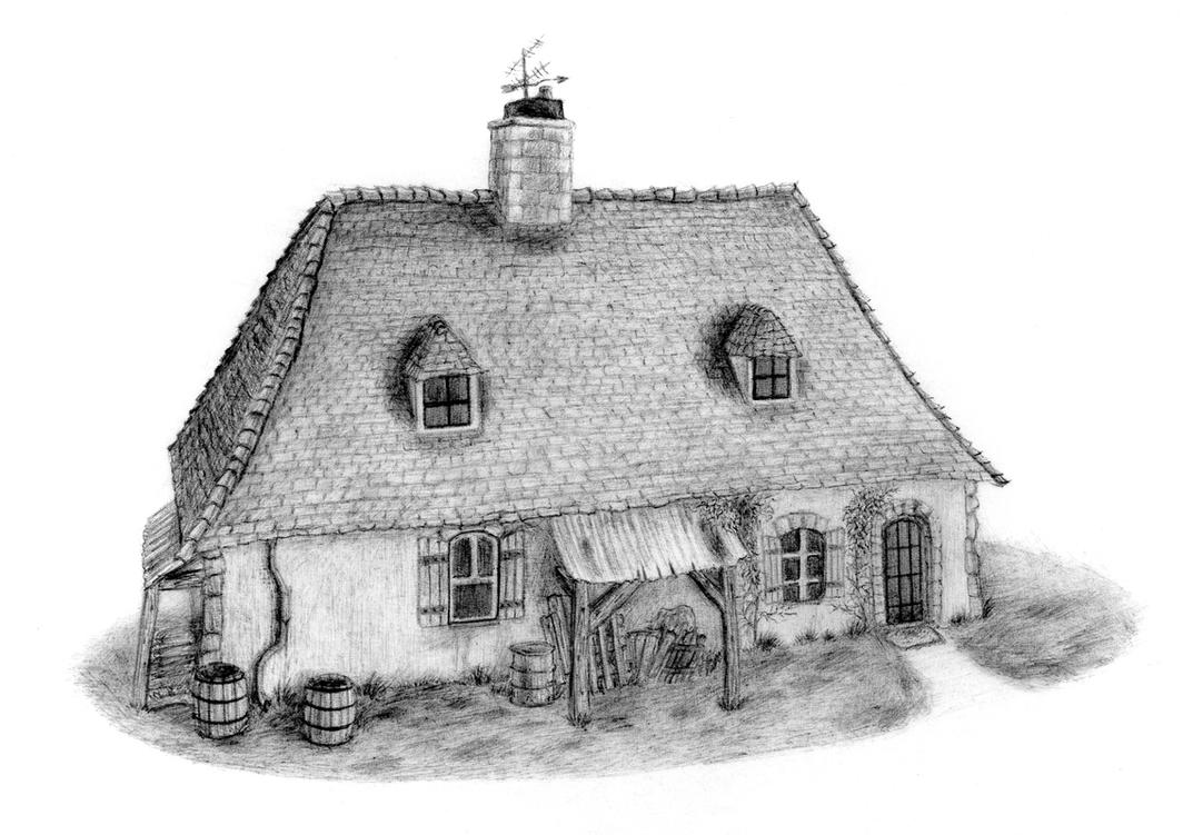 Ratatouille House - Biro by bluefootednewt