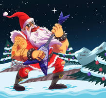 Santa Rockstar by ZEBES