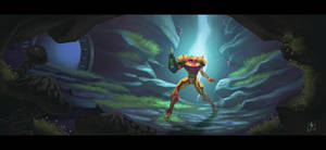 Samus explores Crateria by ZEBES