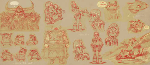 HTTYD first sketches by ZEBES