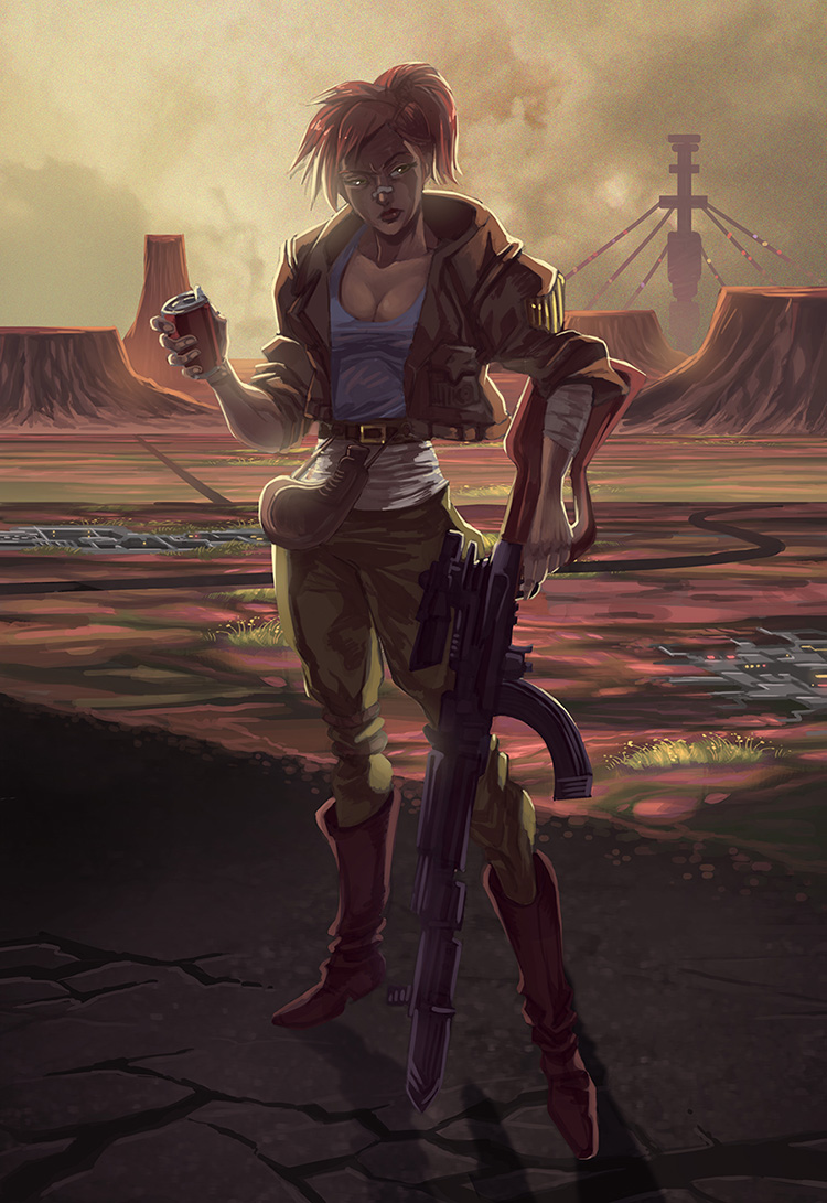 Girl and gun by ZEBES