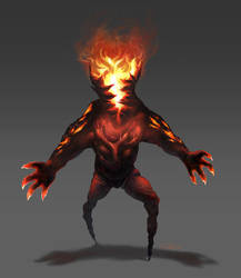 Fire monster commission