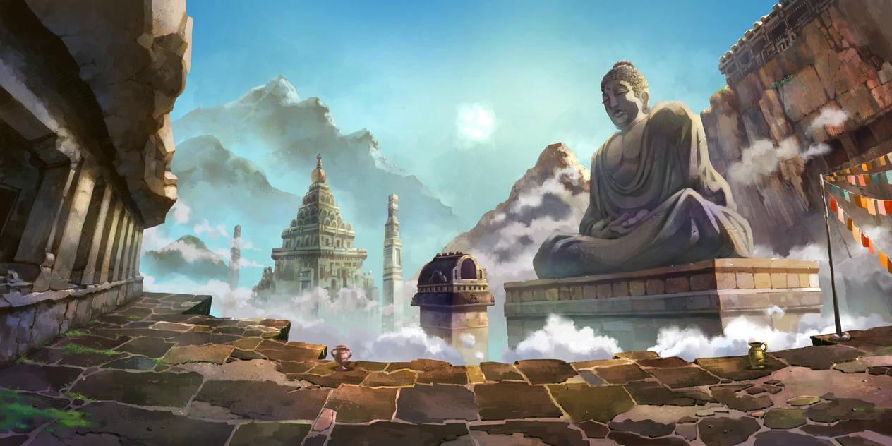 Hero Versus BG: India temple by ZEBES