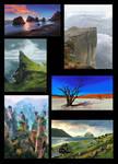 Speedpaintings collage