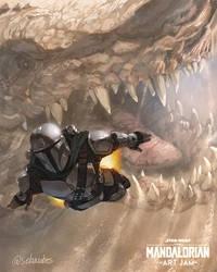 The Mandalorian vs Krayt Dragon