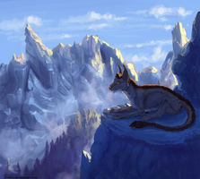 The breath of mountains - commission(speedpaint) by Yessys