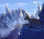 The breath of mountains - commission(speedpaint)