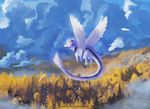 Golden sea - commission (speedpaint)