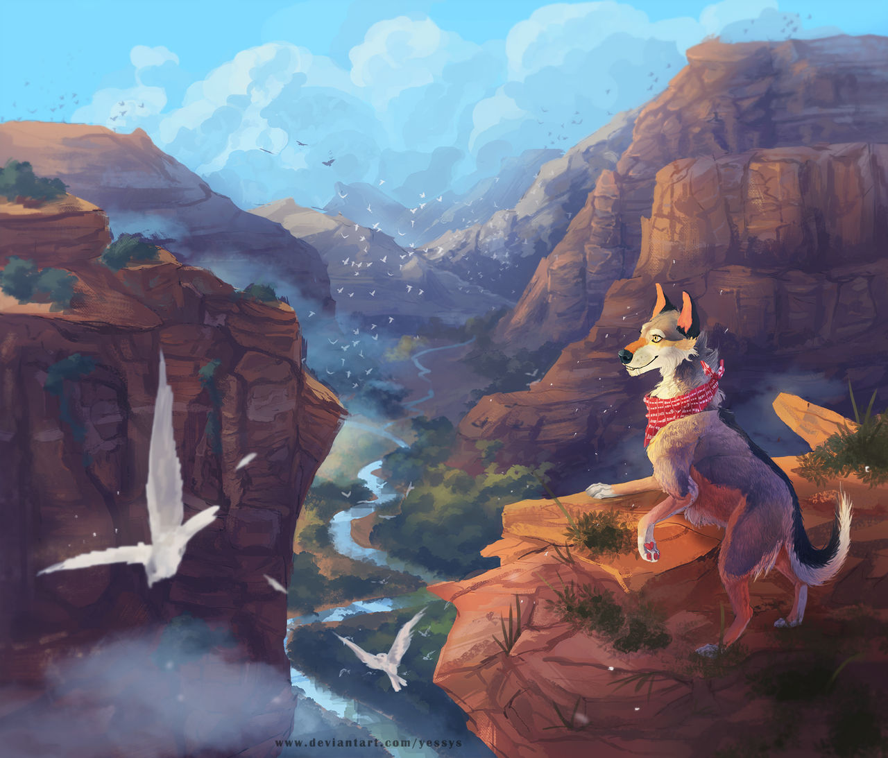 Canyon - commission by Yessys
