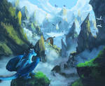 Dragon mountains - commission